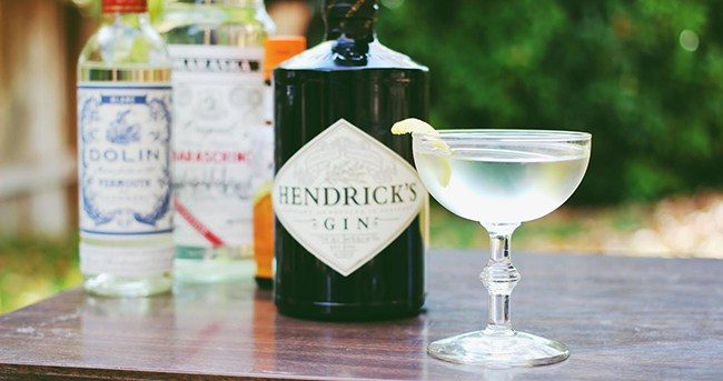 white martinez with hendricks